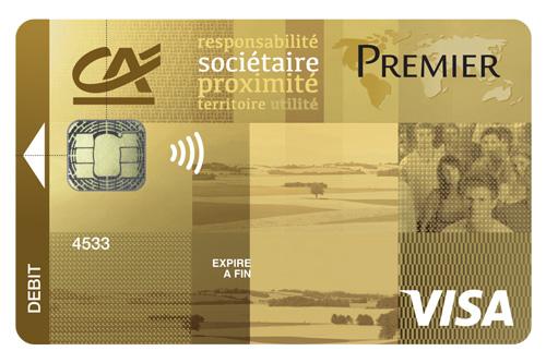 Cr dit agricole atlantique vend e comparateur de cartes - Plafond de paiement carte visa premier ...